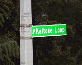 Kaitoke Loop road sign